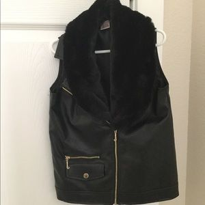 Juicy couture leather vest